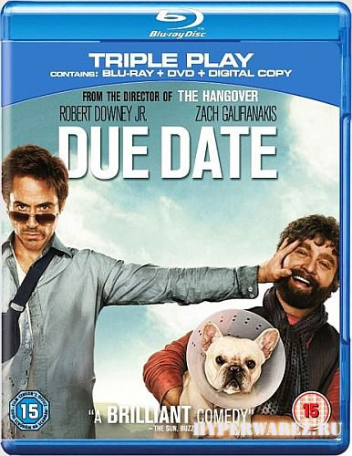 Впритык / Due Date (2010) BDRip 720p
