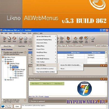 AllWebMenus Pro v5.3 Build 862