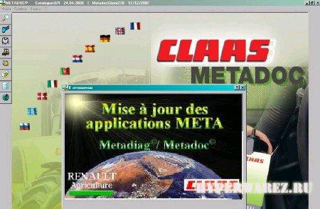 Каталог запчастей для тракторов Renault и Claas [ METADOC©,  v.324, Multi + RUS ]