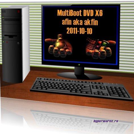 MultiBoot DVD X6 afin 2011-10-10 16.0 (Русский / Английский)